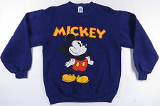 VTG 80S 90S MICKEY MOUSE BIG PRINT PURPLE SWEATSHIRT JUMPER RETRO MADE IN USA M