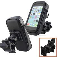 Black Bicycle Motorcycle Phone Case Bag Handlebar Mount Holder Waterproof CA MT