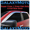 04-14 Ford F150 Super Crew Crew Cab Chrome 4 Door Window Visor Rain Sun Guard