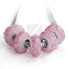 5pcs Murano Glass Beads Lampwork European Bracelets Necklace DIY 14*7.5/15*7.5mm