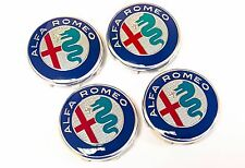 Set of 4  2016 Official Genuine Alfa Romeo 156 50mm Alloy Wheel Center Caps