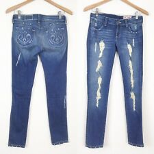 SIWY Hannah Slim Crop Jeans SZ 26 Stretch Denim Frayed Destroyed Tempest Wash