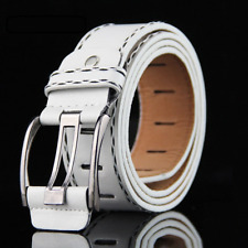 New 2020 Men's women Classic PU High Quality Leather Luxury Belt  Metal Buckle