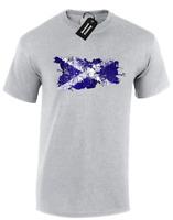 SCOTLAND PAINT SPLASH MENS T-SHIRT FLAG FOOTBALL RUGBY FAN SCOTTISH TOP (COL)