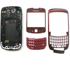 Full Housing For Blackberry Curve 8520 battery cover/frame/Keypad Red Generic