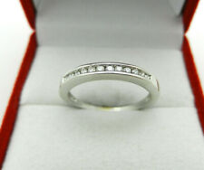 Diamond Ring Band size 5.75 Solid 10k White Gold Anniversary Wedding