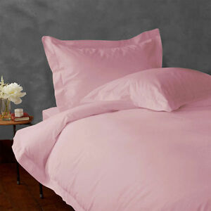 1000 Thread Count NEW EGYPTIAN COTTON BEDDING ITEMS ALL UK SIZE PINK SOLID COLOR