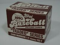 Topps 1990 Traded Series Baseball Cards Complete Set  Rookie Cards # 1-132