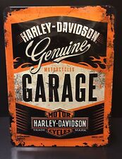 Harley-Davidson Motorcycles Garage - Embossed Steel Sign Wall Decor 30x20 Cm