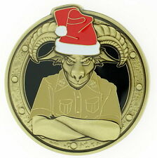 CPO CHIEF ANTIQUE BRASS FEMALE X-MAS LIGHTS US Navy Challenge Coin