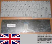 QWERTY KEYBOARD UK TOSHIBA P200 P205 P300 X300 NSK-TBM0U 9J.N9282.M0U WHITE
