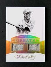 2017 Panini Flawless Charlie Gehringer Greats /10 Dual Material Jersey Patch