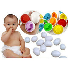 Baby Girls Boys Educational Toys Paired Twisted egg help identify Right Matching