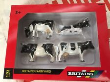 Britains 40961 Friesian Cattle 4 pack Cow Cows 1:32 Scale Replica Farm Model Toy