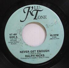Hear! Modern Soul Boogie Private 45 Ralph Hicks - Never Get Enough / Passport To