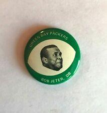 Vintage 1969 Drenks Potato Chips Pin Bob Jeter Green Bay Packers