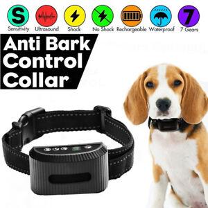 2021 Anti Bark Dog Training Collar Stop Barking Rechargeable Auto Collars AU