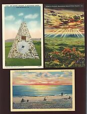 C30 Cape Henry Sunrise, Sunset at Skyland, Fort Chiswell Monument, Unused Linens