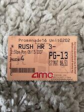 New listing Rush Hour 3 Original Movie Ticket Stub Amc Woodland Hills 2007 Rare Jackie Chan