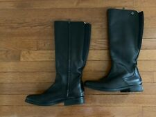 Bussola Black Leather Knee High Boots Woman Size EU 40