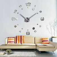 Wall Clock Acrylic Mirror Stickers Home Decorations 3D DIY Watches Quartz Clocks