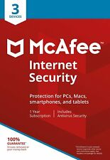 McAfee 2020 Internet Security | 3 Devices | 1 Year | PC/Mac/Android | Download