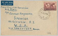 1st FLIGHT COVER - AUSTRALIA: FIRST OFFICIAL CANADIAN AIRMAIL 1949