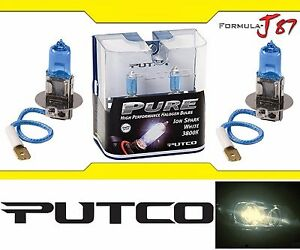Putco 3800K Iron White H3 230003SW 55W wo Bulbs Fog Light Replace Lamp Halogen