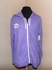 Purple Zip Up Hoodie light weight un-lined new Hanes live love color sm casual