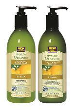 Avalon Organics Limón GLICERINA JABÓN DE MANOS Y MANO / Loción Para Cuerpo LOTE