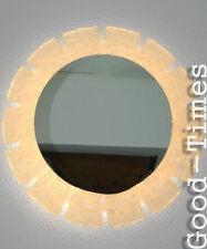 Großer Acryl-Spiegel Eis-Optik  70er Jahre beleuchtet 70s