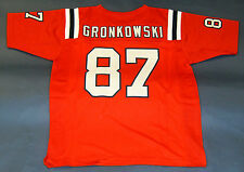 ROB GRONKOWSKI CUSTOM PRO STYLE THROWBACK RED JERSEY GRONK