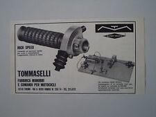 advertising Pubblicità 1970 COMANDI MANOPOLE TOMMASELLI