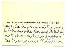 🌓 Princesse Pingpeang Yukanthor|Paquebot Cambodge|Messageries Maritimes 1952