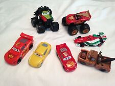 DISNEY CARS THE MOVIE PLASTIC VEHICLE LOT OF 7 VEHICLES