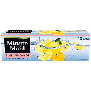 Minute Maid Pink Lemonade 12 oz Cans (Pack Of 12)