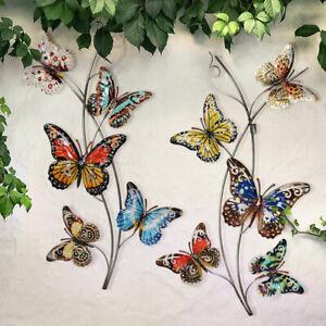Garten Kunst Outdoor Wandskulpturen 4 St/ück Metall Niedliche Marienk/äfer Insekten Dekorationen