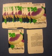 Wholesale Lot of 25 Old Vintage - Turnip - Purple Top - Vegetable Seed Packets
