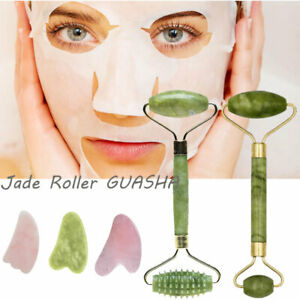 Jade Face Massage Roller Beauty Facial Tool Eye Neck Body Anti Ageing Therapy