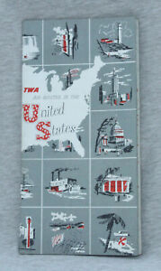 TWA Air Routes in the United States, 1950