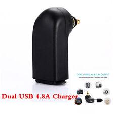 5V 4.8A Dual USB Charger Socket Power Adapter Plug For BMW Motorcycle 12V 24V