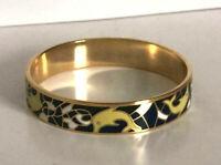 bracelet émail,enamel pour femme en plaqué or