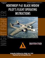 Northrop P-61 BLACK WIDOW Pilot's Manual Airplane BOOK
