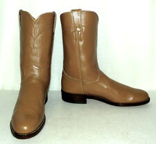 Womens Roper Cowboy Boots Light Tan Justin brand size 7.5 A narrow width cowgirl