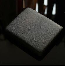 Men Thin Slim Plain Dull Polish Matte Black Gunmetal Cigarette Case Box
