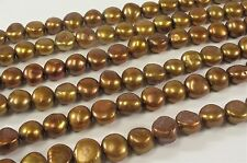 10-12 mm Large Hole Copper Brown Freshwater Pearl Nugget Beads 2 mm Hole (#334)