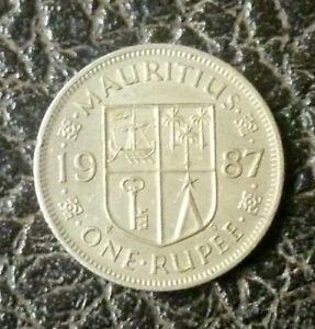 Mauritius 1987 - 1 Rupee Cupro Nickel - Sir Seewoosagur Ramgoolam 'VF/EF'.