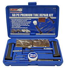 Premium Tire Repair Kit 60 Pcs Set Trucktractor Atv Flat Tire Plug Tool Kit