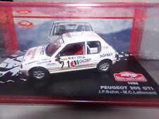 voiture miniature  1/43  IXO     PEUGEOT 205 GTI MONTE-CARLO 88 BALLET/LALLEMENT