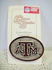 TEXAS A & M Officially Licensed Pin Back Hand-Crafted Pins/Buttons Box Of 6 NEW